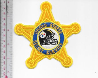 US Secret Service USSS Pennsylvania Pittsburgh Field Office Agent Service Steelers Helmet Patch