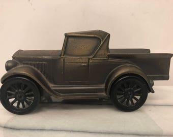 Vintage Banthrico Inc (Chicago USA) 1928 Metal Old Fashioned Car Piggy Bank