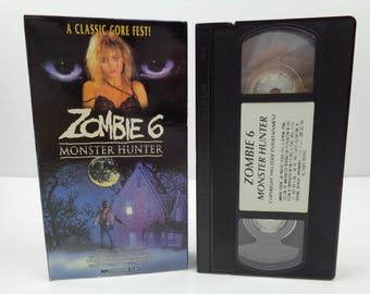 Zombie 6 Monster Hunter VHS Tape