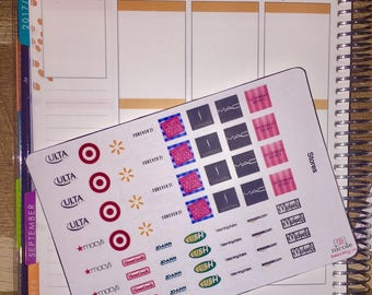 Store Logo Planner Stickers for use with Erin Condren life Planner and other planners