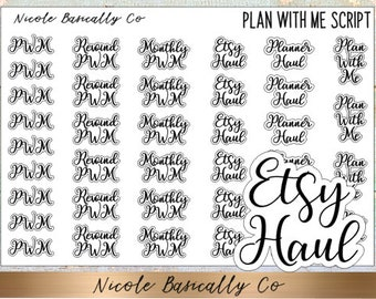 Plan With Me Script Planner Stickers
