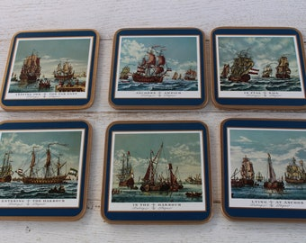 Pimpernel Traditional Coasters - Sailing Ships