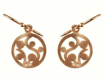 9ct gold scroll earrings