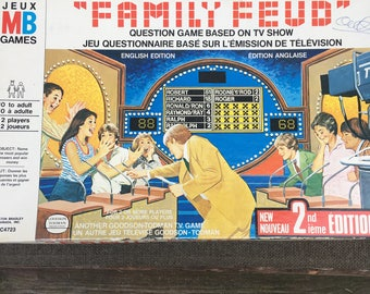Family Feud board game 1970's 2nd Edition