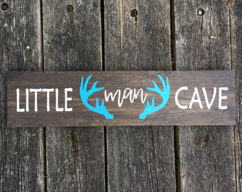 Rustic Wooden Little Man Cave Sign