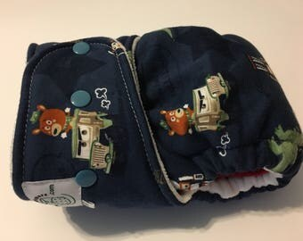 Import Toy Story Theme Hybrid Fitted Cloth Diaper - One Size - FDR - Zorb