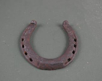 Rusted Horseshoe, Western Decor with Small Iron Shoe, Good Luck Horseshoe, #458