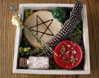 Altar set element pentacle - four elements - Pentagram