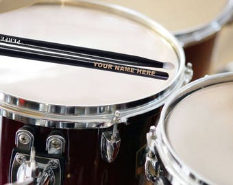 Father's Day One Pair of Personalized Monogrammed Custom Drumsticks
