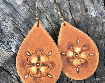 Medium Tan Earrings