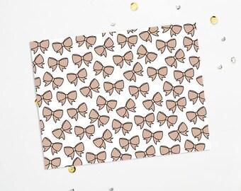 PRINTABLE Sheet - Latte Bows