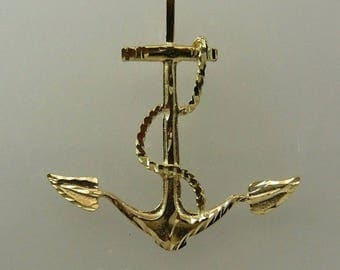Anchor Pendant 14k Yellow Gold