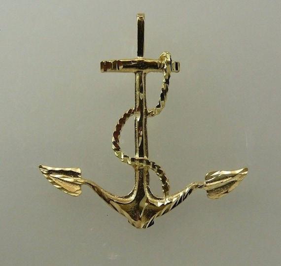 Anchor Pendant 14k Yellow Gold