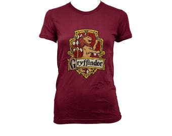 Gryffin #2 Crest on Maroon Women tee (BC6004)