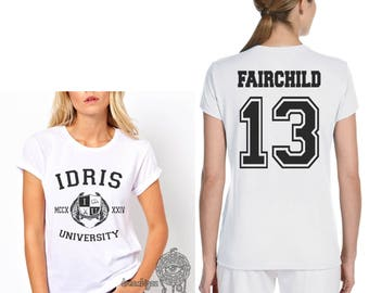 Fairchild 13 Idris University on Women tee White
