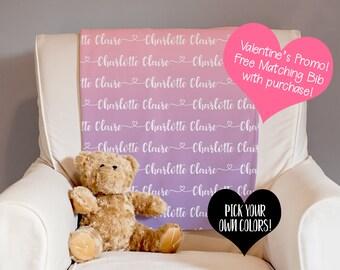 Baby Name Blanket - Personalized Blanket - Receiving Blanket - Swaddle Blanket - Baby Shower Gift - New Baby Gift - Custom Baby Blanket