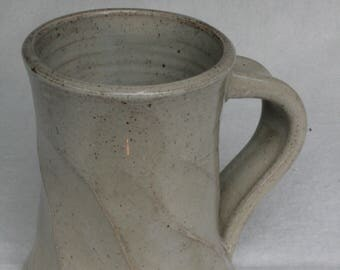 Faceted gray coffee mug