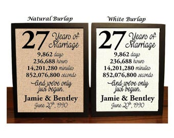 27th wedding anniversary gifts for him