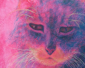 """Your Cat with Color, Texture & Soul - 11""""x 14"""""""