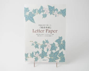 Midori Letter Paper pad with green ivy
