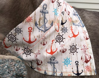 Med/Large You Keep Me Anchored Dog Bandana