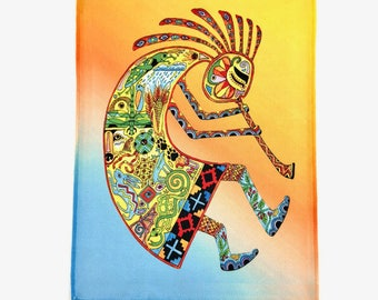 Microfiber Cloth Wipes Kokopelli Animal Spirits by Sue Coccia Native American Art Microfiber for Glasses, Computer Screens, Ipad & Phones