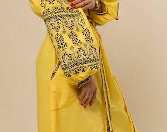 Dress Long Ukrainian embroidery dress