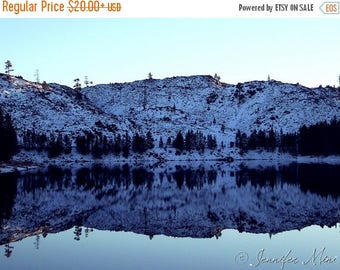 ON SALE 20% OFF Still Water Reflections Oregon Color Photography Print