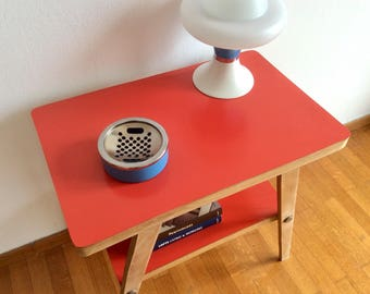 Formica Table, Side Table, End Table, Night Stand, Mid Century Small Coffee Table, 60's Plant Stand, Vintage Flower Stool, Top Plant Stand.