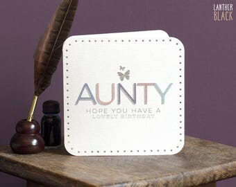 Aunty birthday card / Aunt birthday card / Auntie birthday card / Birthday Card for aunty / Special Aunty / MT25