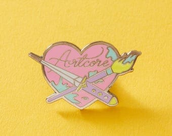 Artcore Enamel Pin // Artist, Crafter, Crafty, Craft Mom Painter Pin // EP219