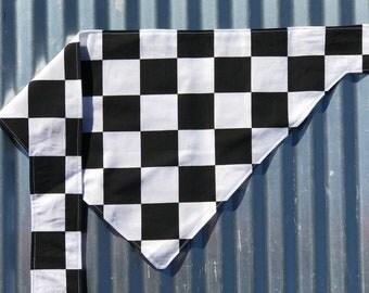 Checkered Flag Dog Bandana