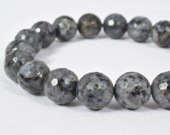Labradorite Gray Gemstone Round Stone Beads 10mm/12mm Facted birthstone healing stone, natural stone loose gemstone for jewelry making# 0094