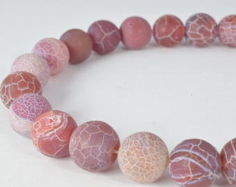 Gemstone agate stone Beads 8mm/12mm Berry Colored Lace Matte Agate Round Beads Stone round loose birthstone Beads for jewelry making  #0081