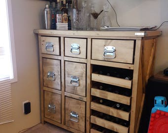 Rustic Liquor and Wine Cabinet