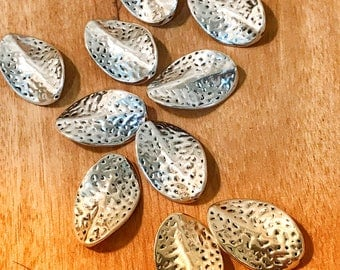 Beads for jewelry making Antique silver twist beads, vintage style, jewelry making beads, pack of 10 beads