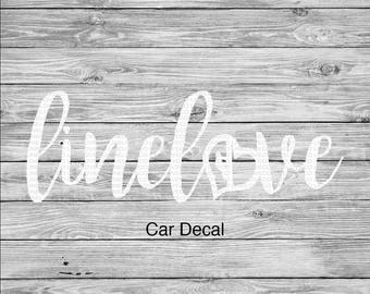 Linelove Lineman's Wife Linewife Linelife Car Decal