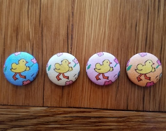 Adorable Duckie/Chickie Fabric Magnets