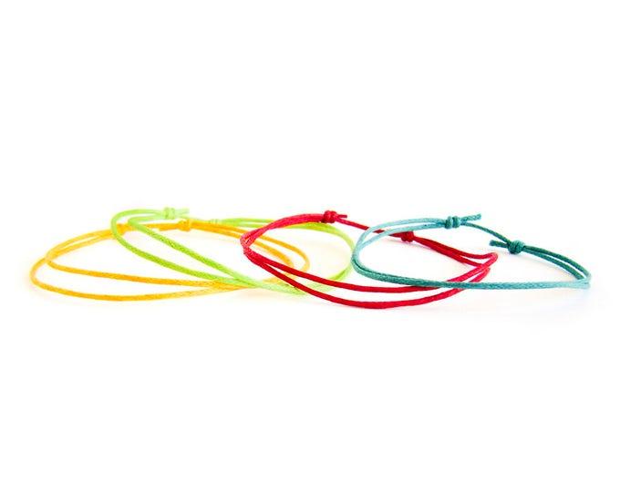 String Bracelet For Men, String Bracelet Women. Adjustable Sliding Knot Bracelet For Guys. Make Your Kit (Set)