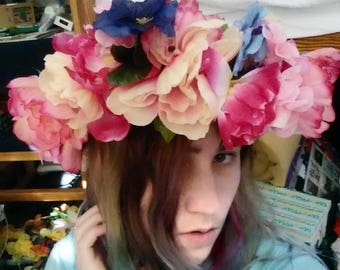 Pretty in Pink Faerie Crown