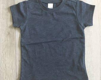 12M HEATHER NAVY (you choose design) shirt