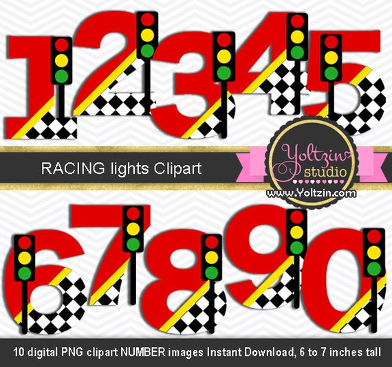 Racing Cars Clipart Numbers Age Party Racer Champion Road Clip Art