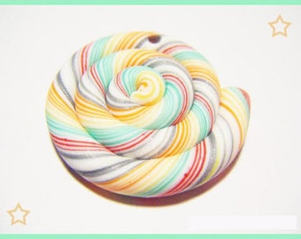 Fimo polymer clay lollipop charm original kawaii