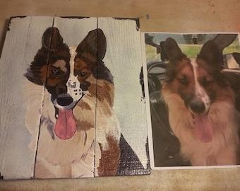 Pet Portrait - Custom Sign - Custom Pet Portrait - Custom Dog Portrait - Cat Sign - Pet Portrait Painting Sign - Mother's Day Gift