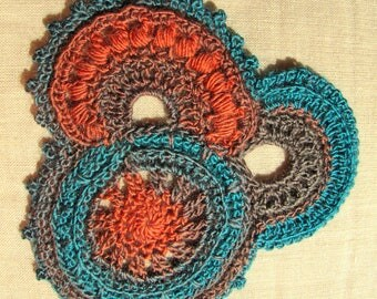 for application freeform crochet decor