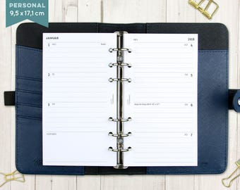 """2018 calendar """"rows lined"""" - staff"""