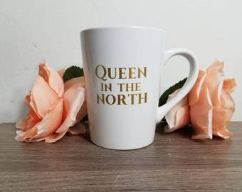Queen in the North, Nerdy Gifts for Her, Nerdy Girl Designs, Nerdy Girl, Nerdy Gifts, Nerd Girl, Nerd Gift for Her, pop culture gift