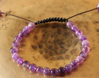 shamballa bracelet with Amethyst bead