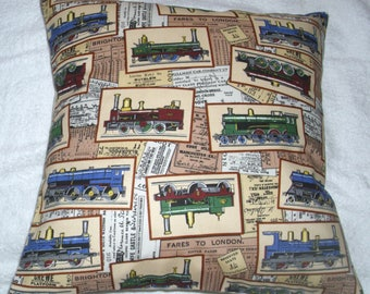 Steam Engines and tickets cushion.