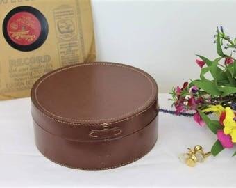 Vintage Collar Box/Leather Collar Box/Dressing Table Box/Men/Dressing ((ref1960V)
